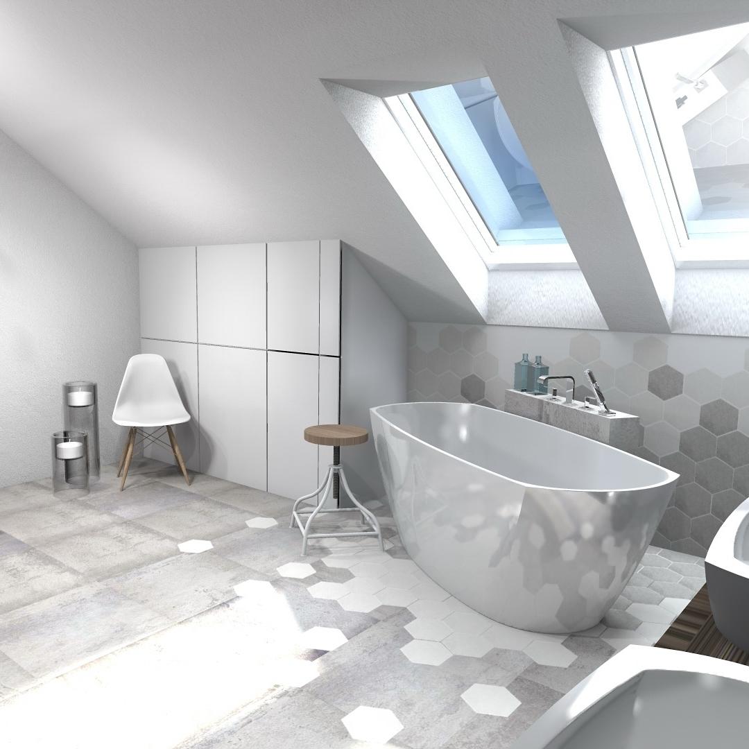 łazienka Na Poddaszu Atelier Lillet Projektowanie Wnętrz