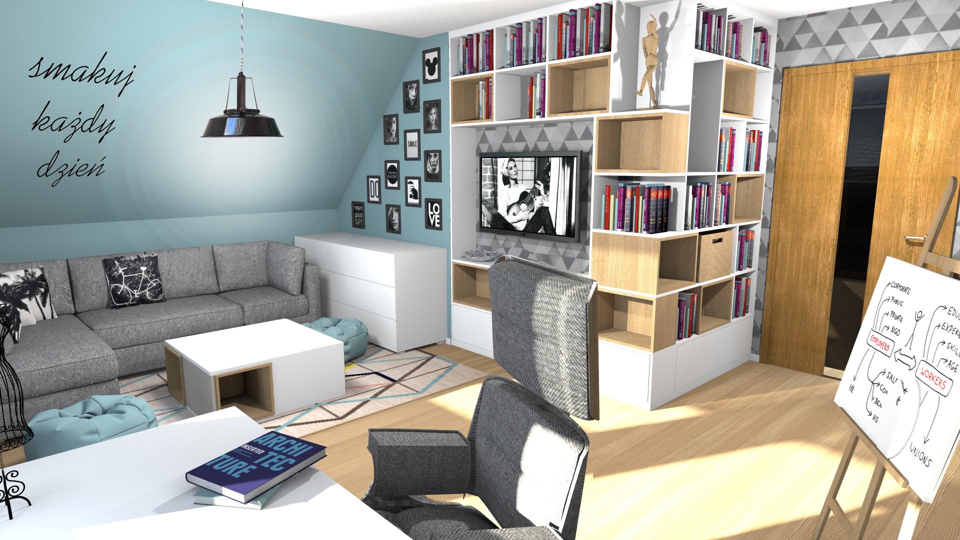 Pokój Dla Nastolatki Z Turkusową ścianą Atelier Lillet
