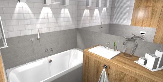 Drewno W łazience Atelier Lillet Projektowanie Wnętrz
