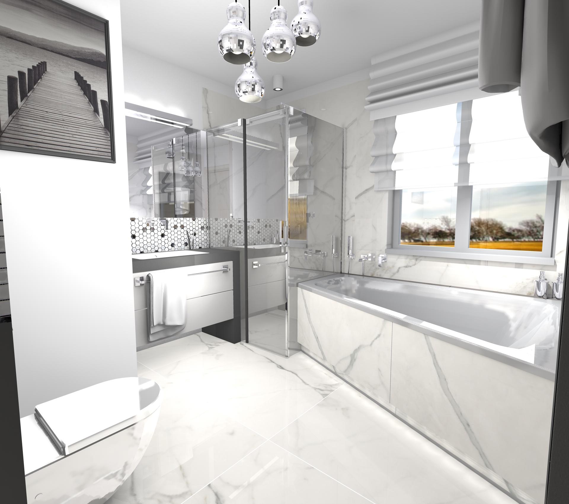 Projekt łazienki W Domu Jednorodzinnym Atelier Lillet