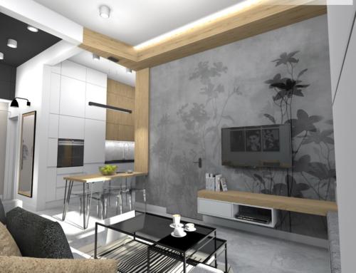 Salon otwarty na hol i kuchnię z nietuzinkową jadalnią
