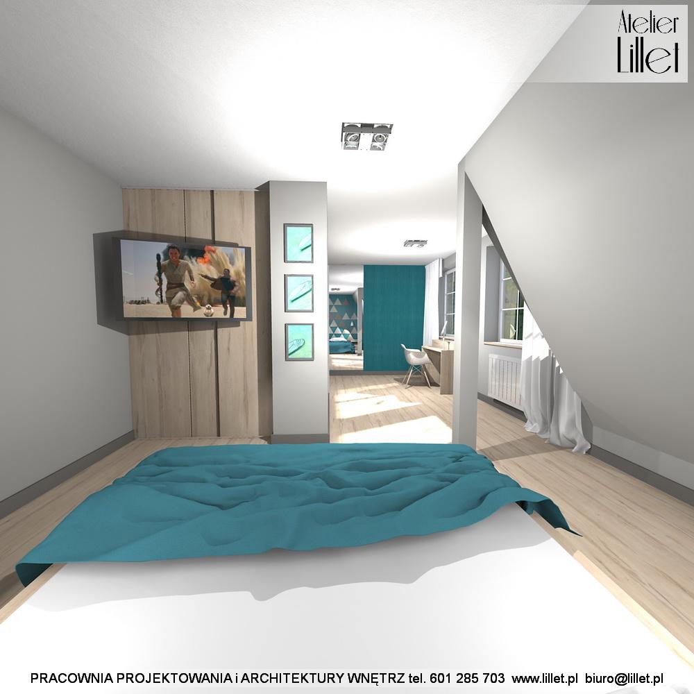 Sypialnia Z Garderobą Na Poddaszu W Dziedzicach Atelier