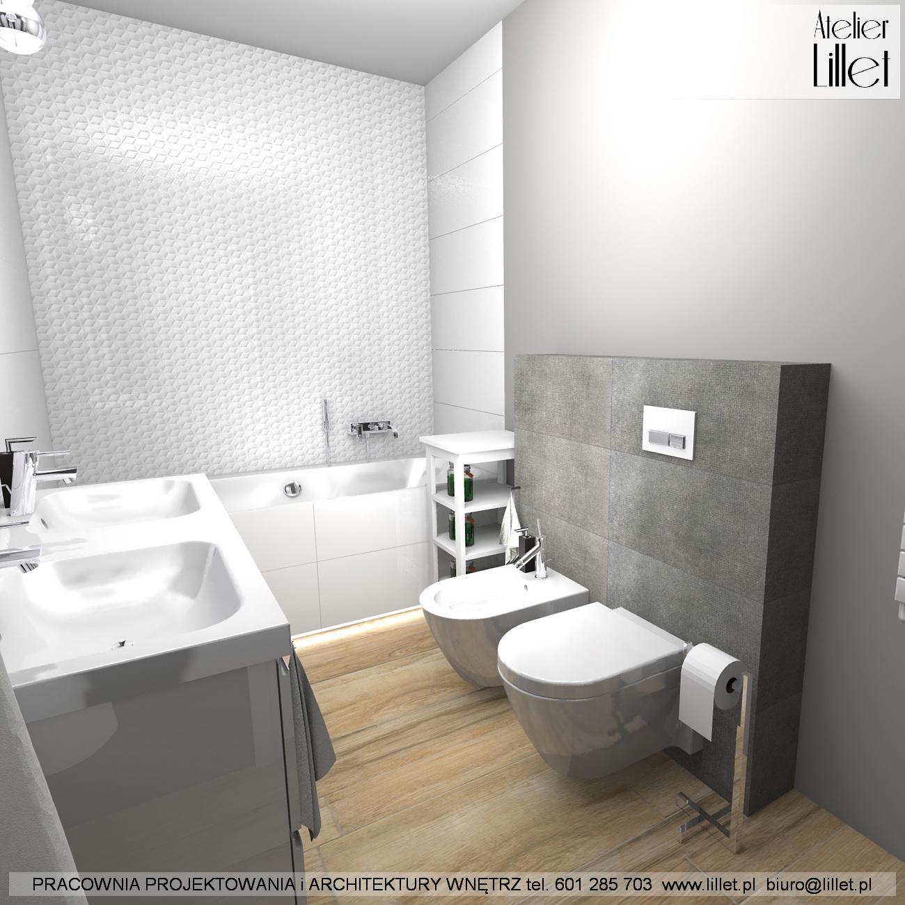 łazienka Z Wanną W Grzepnicy Atelier Lillet Projektowanie